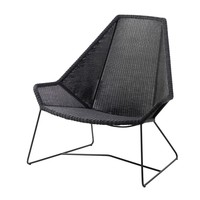 BREEZE HIGHBACK CHAIR BLACK, CANE-LINE FIBRE