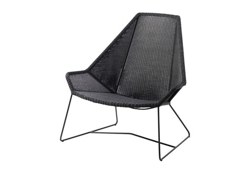 CANE-LINE BREEZE HIGHBACK CHAIR IN BLACK CANE-LINE FIBRE