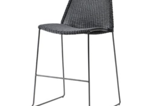 CANE-LINE BREEZE BAR CHAIR BLACK, CANE-LINE FIBRE