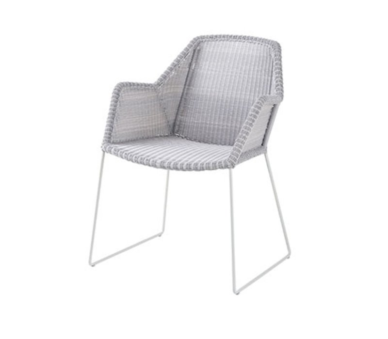 BREEZE DINING CHAIR WHITE GREY, CANE-LINE FIBRE