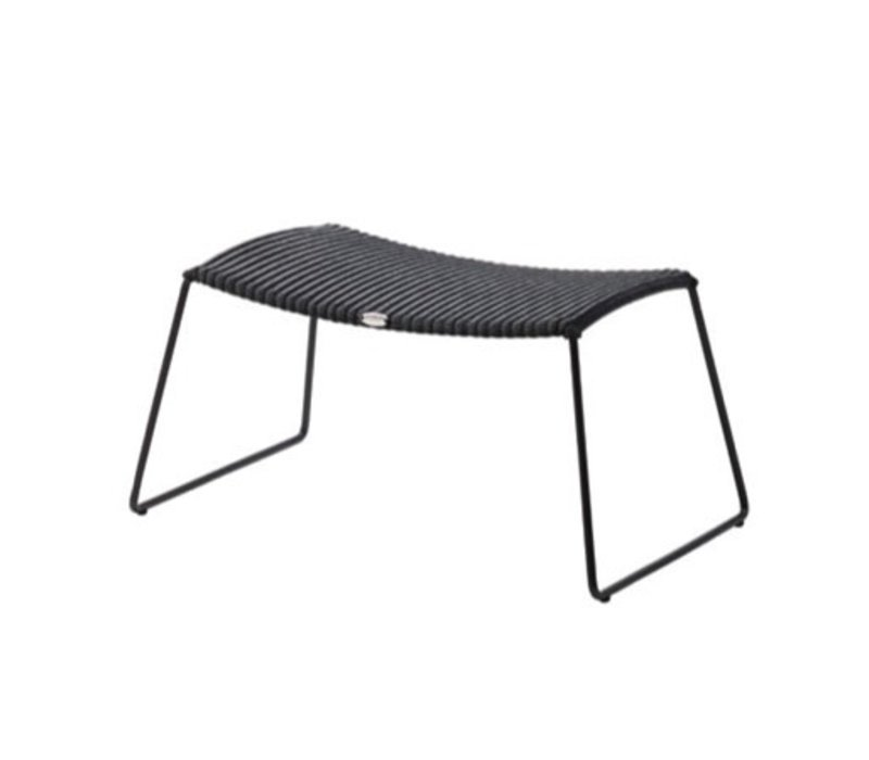 BREEZE FOOTSTOOL IN BLACK, CANE-LINE FIBRE