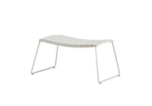 CANE-LINE BREEZE FOOTSTOOL IN WHITE GREY CANE-LINE FIBRE
