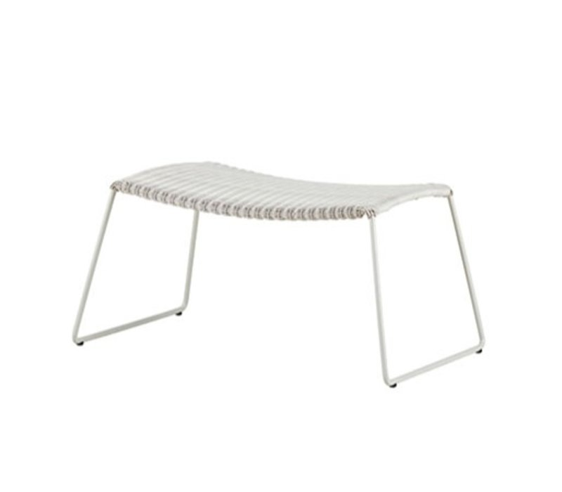 BREEZE FOOTSTOOL WHITE GREY, CANE-LINE FIBRE