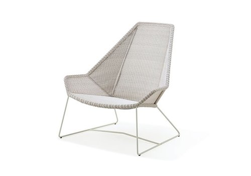 CANE-LINE BREEZE HIGHBACK CHAIR IN WHITE GREY CANE-LINE FIBRE