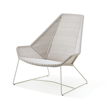 CANE-LINE BREEZE HIGHBACK CHAIR WHITE GREY, CANE-LINE FIBRE