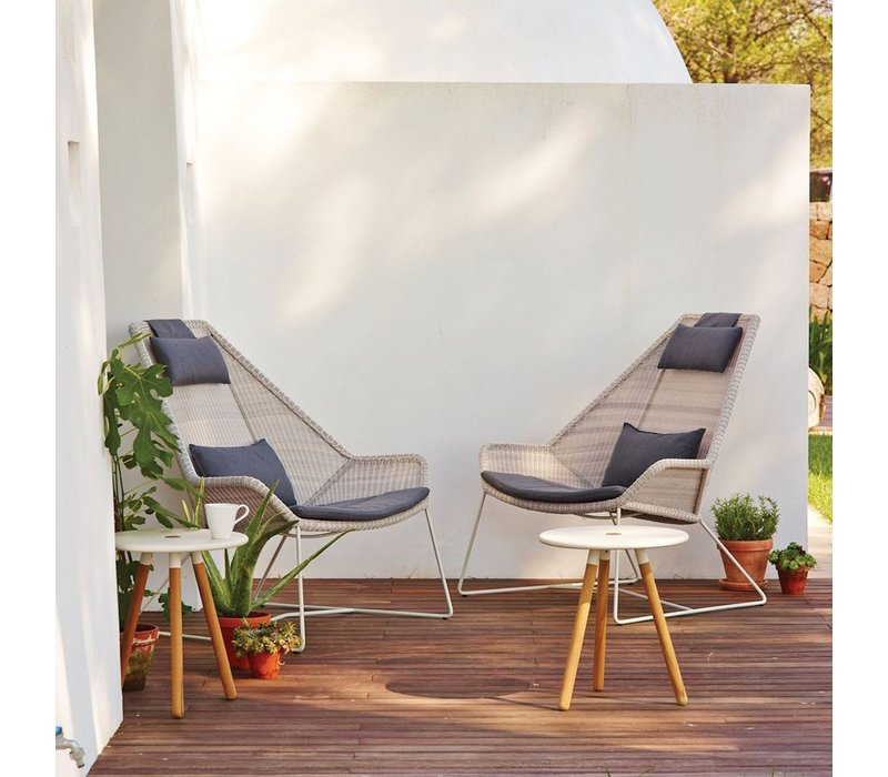 BREEZE HIGHBACK CHAIR WHITE GREY, CANE-LINE FIBRE
