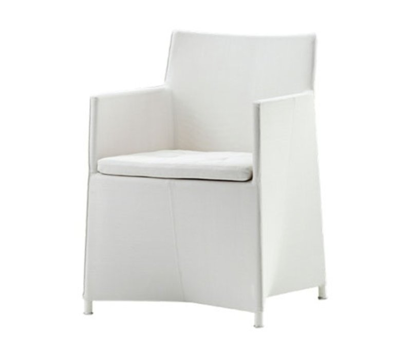 DIAMOND DINING CHAIR INCL. CUSHION, WHITE CANE-LINE TEX