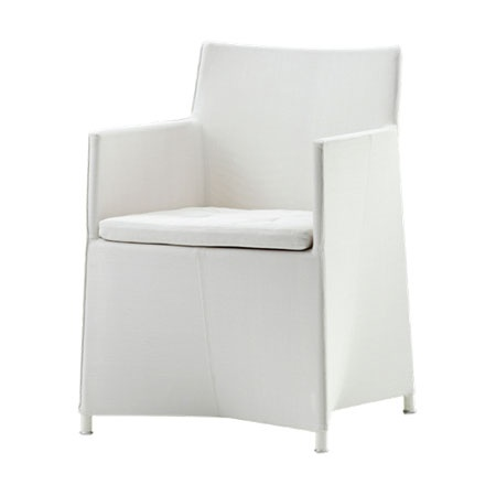 CANE-LINE DIAMOND CHAIR INCL. CUSHION WHITE, CANE-LINE TEX