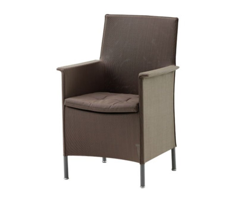 LIBERTY CHAIR INCL. CUSHION BROWN, CANE-LINE TEX