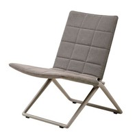 TRAVELLER LOUNGE FOLDING CHAIR BROWN, CANE-LINE TEX
