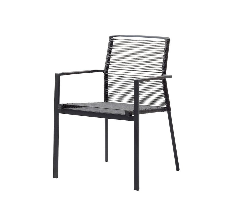 EDGE CHAIR ANTHRACITE, CANE-LINE ROPE