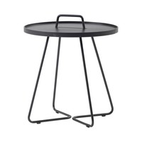 ON-THE-MOVE SIDE TABLE, LARGE IN BLACK