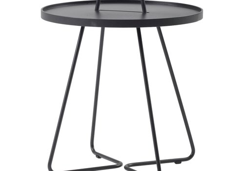 CANE-LINE ON-THE-MOVE SIDE TABLE LARGE - BLACK