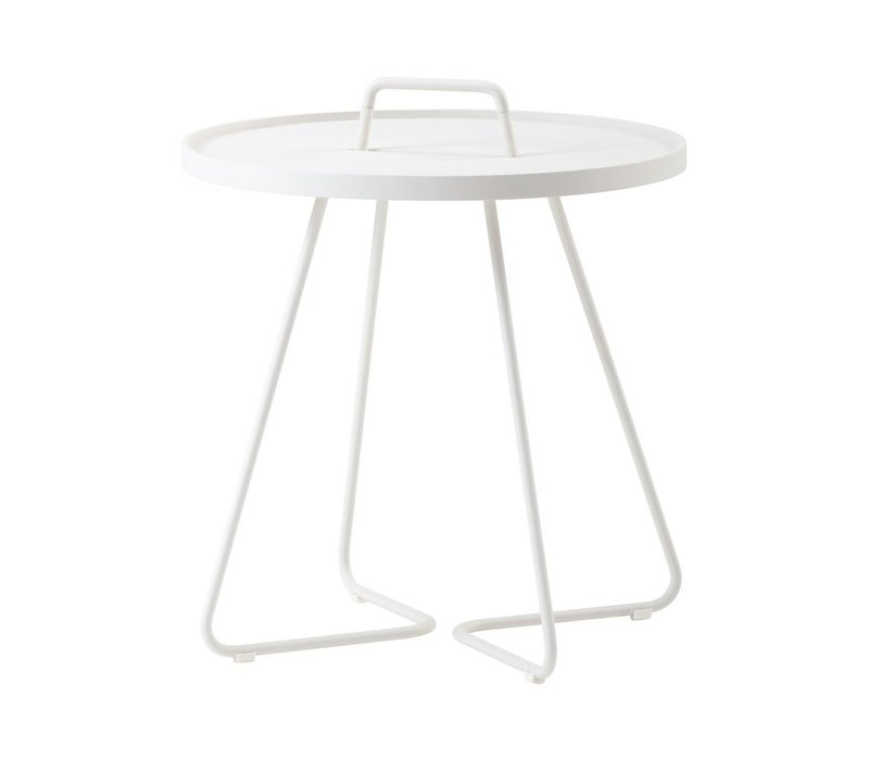 ON-THE-MOVE SIDE TABLE LARGE - WHITE