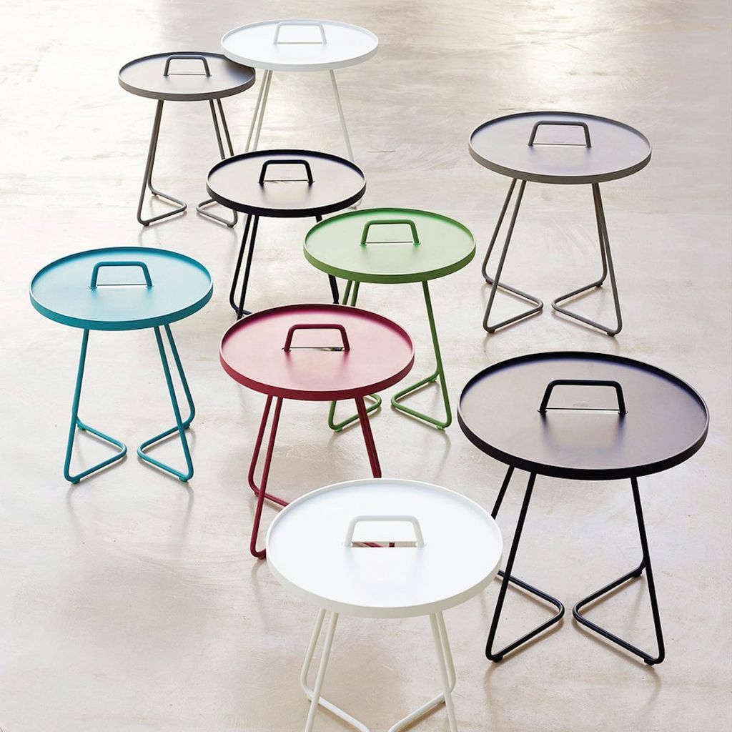 CANE-LINE ON-THE-MOVE SIDE TABLE LARGE - WHITE
