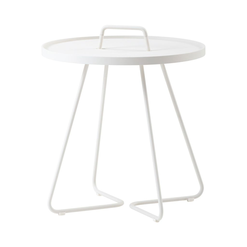 CANE-LINE ON-THE-MOVE SIDE TABLE SMALL - WHITE