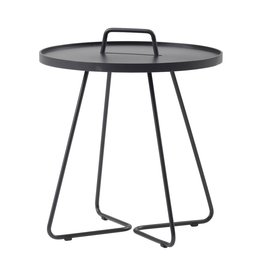 CANE-LINE ON-THE-MOVE SIDE TABLE SMALL - BLACK