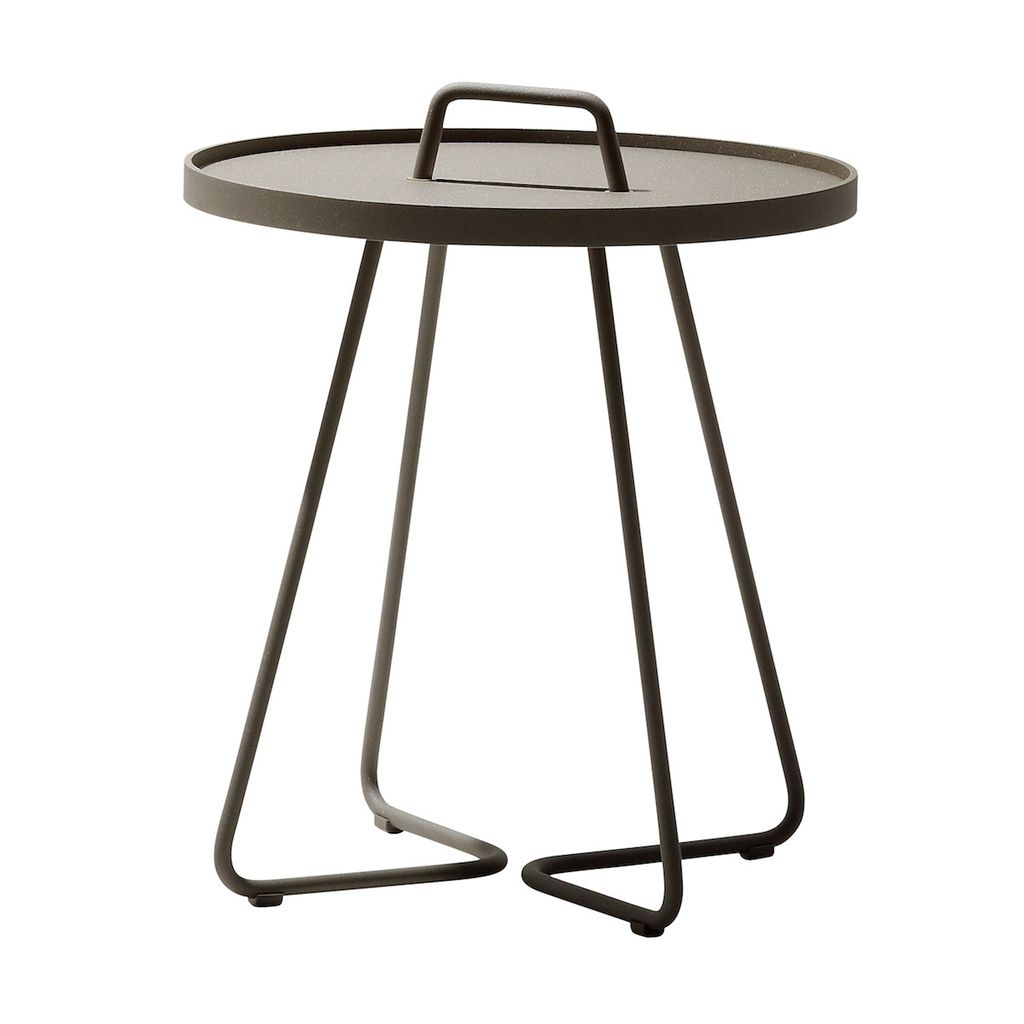 CANE-LINE ON-THE-MOVE SIDE TABLE LARGE - TAUPE