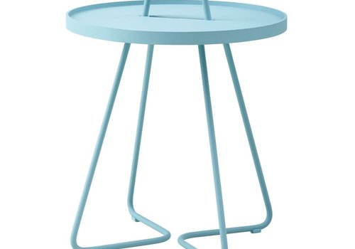 CANE-LINE ON-THE-MOVE SIDE TABLE SMALL - TURQUOISE