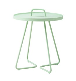 CANE-LINE ON-THE-MOVE SIDE TABLE SMALL - MINT