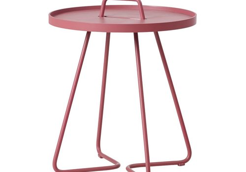 CANE-LINE ON-THE-MOVE SIDE TABLE SMALL - MARSALA