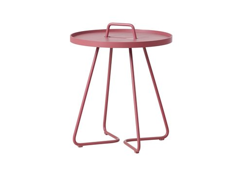 CANE-LINE ON-THE-MOVE SIDE TABLE, SMALL IN MARSALA