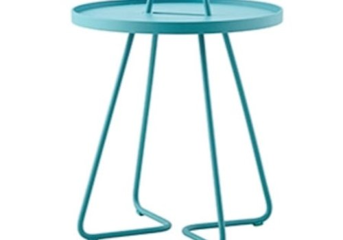 CANE-LINE ON-THE-MOVE SIDE TABLE SMALL - AQUA