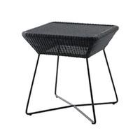 BREEZE SIDE TABLE BLACK, CANE-LINE FIBRE