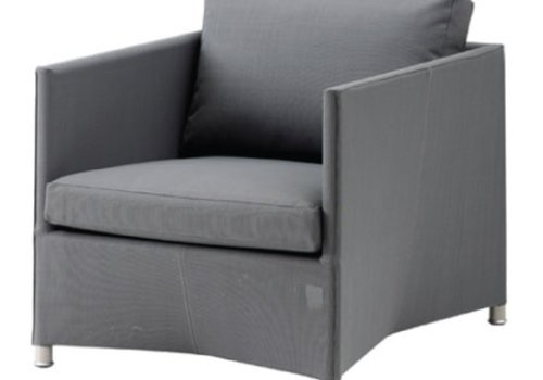 CANE-LINE DIAMOND LOUNGE CHAIR GREY CANE-LINE TEX