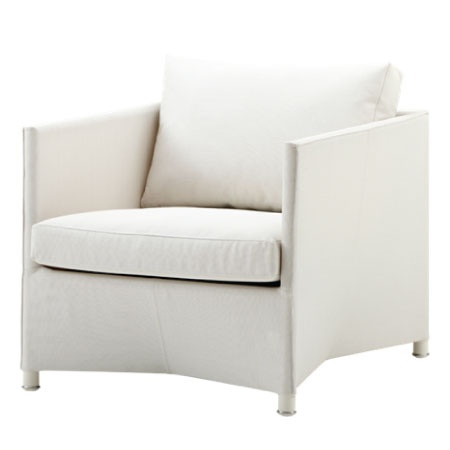 CANE-LINE DIAMOND LOUNGE CHAIR INCL. CUSHION WHITE, CANE-LINE TEX