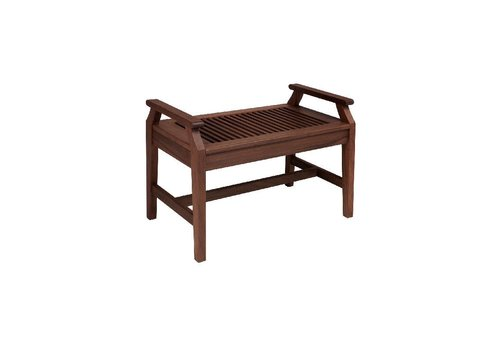 JENSEN LEISURE FURNITURE OPAL 2.5FT BENCH WITH ARMRESTS