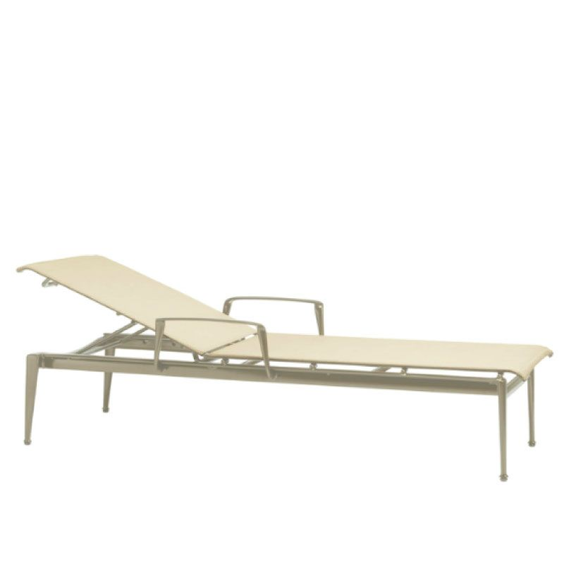BROWN JORDAN FLIGHT CHAISE WITH ARM
