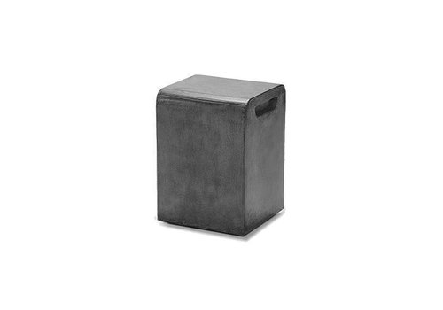 LOOK STOOL OR SIDE TABLE, GRAPHITE