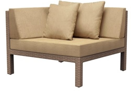 BROWN JORDAN ELEMENTS CORNER SECTIONAL W/ LOOSE CUSHIONS
