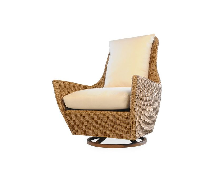 TOBAGO HIGH BACK SWIVEL LOUNGE CHAIR - GRADE C FABRIC