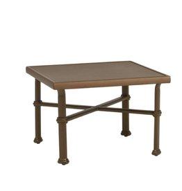 BROWN JORDAN FREMONT 26 SQUARE OCCASIONAL TABLE - ALUMINUM TOP