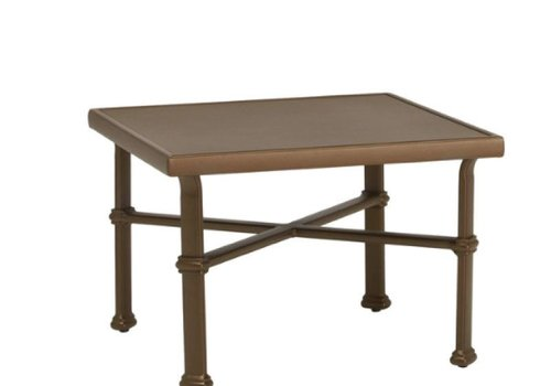 BROWN JORDAN FREMONT 26 SQUARE OCCASIONAL TABLE - ALUMINUM TOP