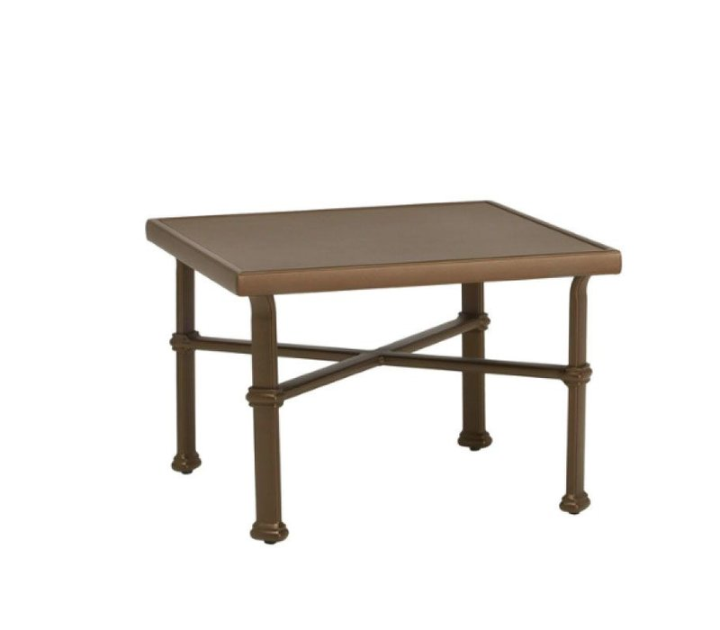 FREMONT 26 SQUARE OCCASIONAL TABLE - ALUMINUM TOP