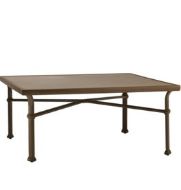 BROWN JORDAN FREMONT 44 SQUARE CHAT TABLE - ALUMINUM TOP