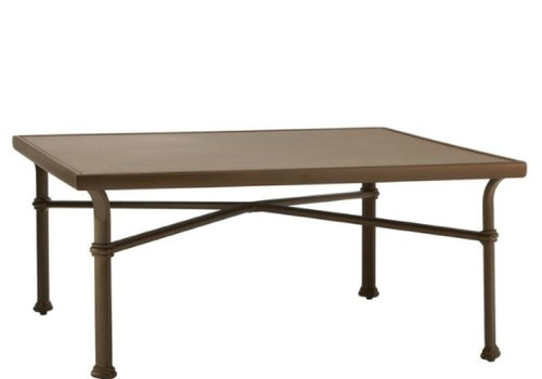 BROWN JORDAN FREMONT 44 SQUARE CHAT TABLE - ALUMINUM TOP