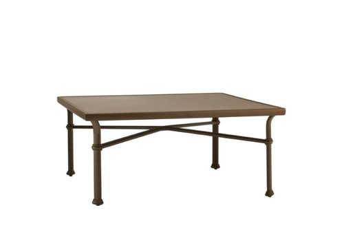 BROWN JORDAN FREMONT 44 SQUARE CHAT TABLE WITH SOLID ALUMINUM TOP