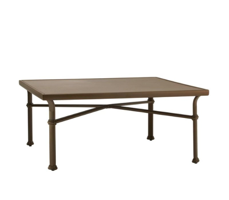 FREMONT 44 SQUARE CHAT TABLE WITH SOLID ALUMINUM TOP