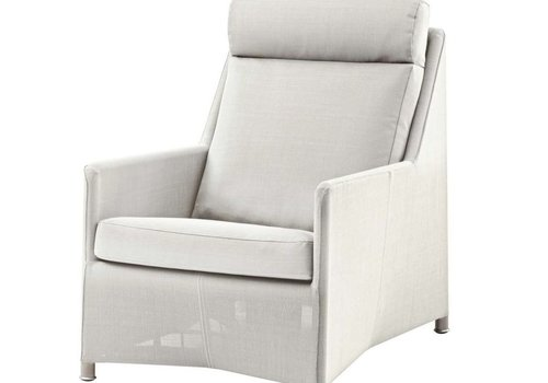 CANE-LINE DIAMOND HIGHBACK CHAIR INCL. CUSHION WHITE, CANE-LINE TEX