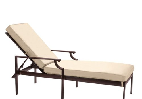 BROWN JORDAN COAST ADJUSTABLE CHAISE WITH GRADE A FABRIC