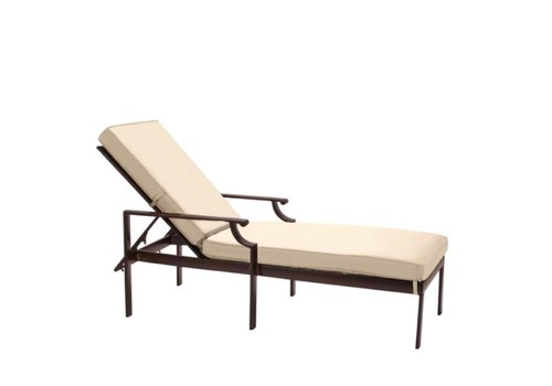 BROWN JORDAN COAST ADJUSTABLE CHAISE WITH CUSHION