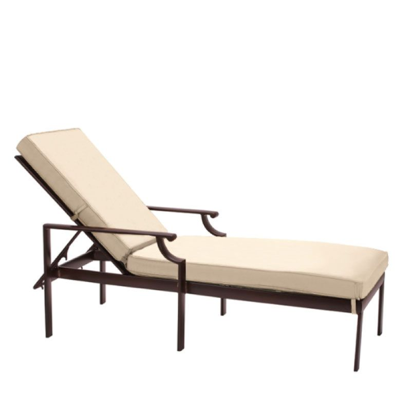 Brown jordan coast adjustable chaise with grade a fabric for Brown and jordan chaise