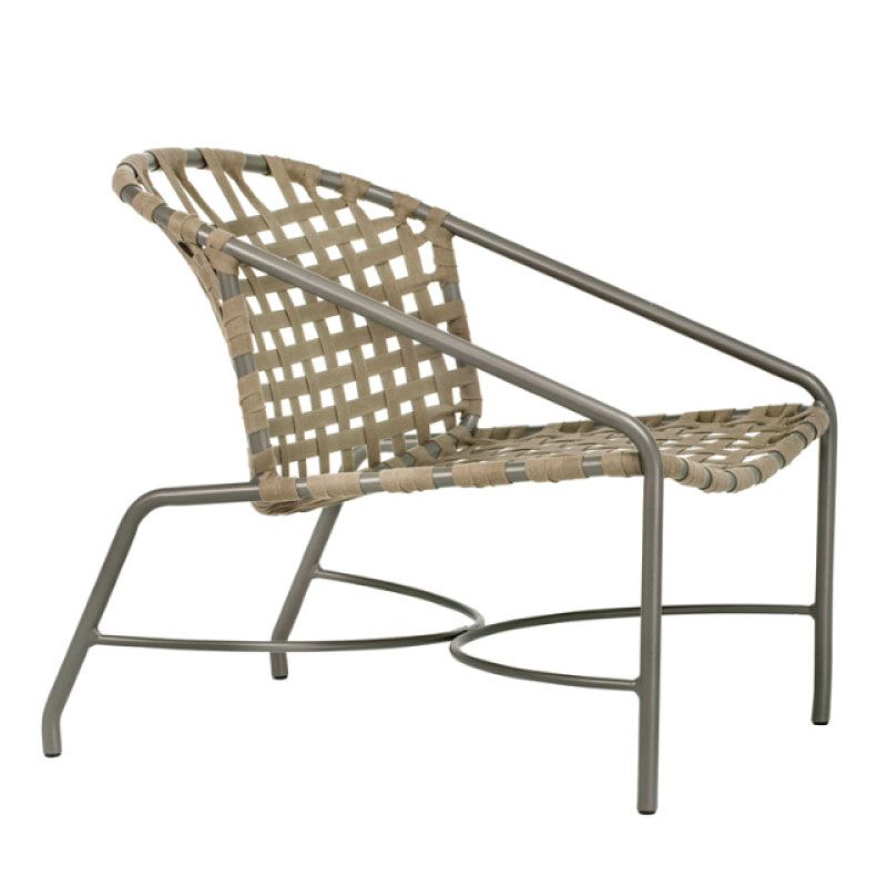 Bon KANTAN ALUMINUM LOUNGE CHAIR WITH SUN CLOTH STRAP