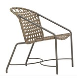 BROWN JORDAN KANTAN ALUMINUM DINING ARM CHAIR - SUNCLOTH
