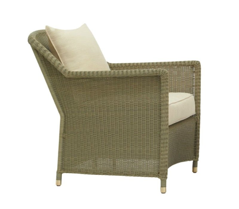 SOUTHAMPTON LOUNGE CHAIR IN SAGE WITH SQUARE BACK PILLOW / GRADE A FABRIC