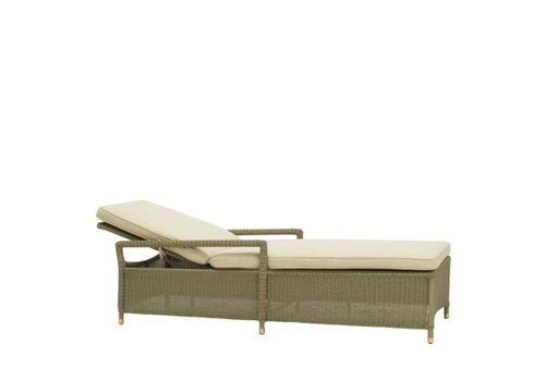 BROWN JORDAN SOUTHAMPTON ADJUSTABLE CHAISE IN SAGE WITH GRADE A FABRIC